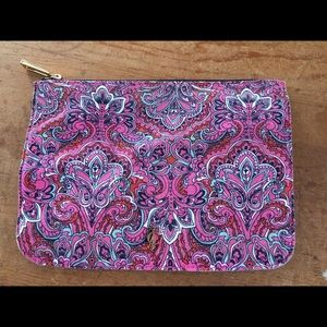 Juicy Couture makeup bag paisley pink clutch